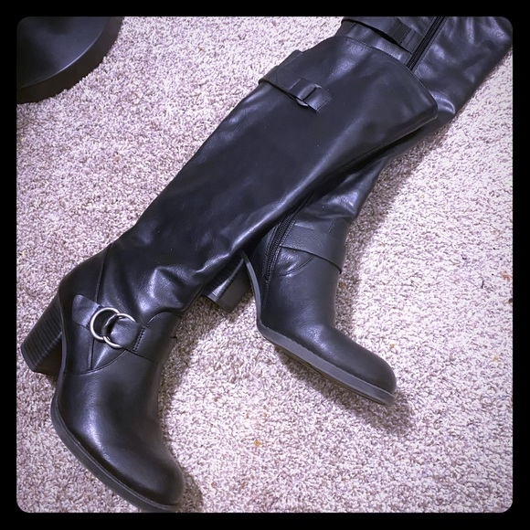Natural Soul Tall Black Boots